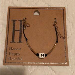 Letter H bracelet